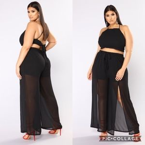 Fashion Nova 'Keep My Secret' Sheer Pants